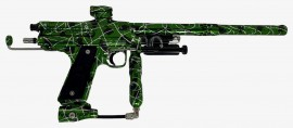 CG2 POLISHED GREEN w/BLACK and WHITE SPLASH